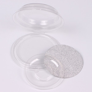 Wholesale Disposable Empty Clear Round False Eyelashes Storage Case DIY Elegant Fake Eyelashes Blister Package, Eye Makeup Tool F2187