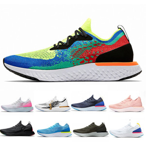 Mens Designer React Trainers Knit Breathable Mesh Womens Sport Sneakers White React High Elastic Tech Bubble Fashion Cushion Casual Shoes