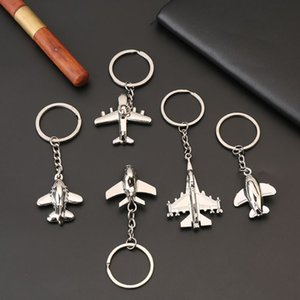 Wholesale Creative Keychain Metal Naval Fighter Aircraft Model Aviation Gifts Key Ring Model Key Chain Air Plane Aircrafe Keyring