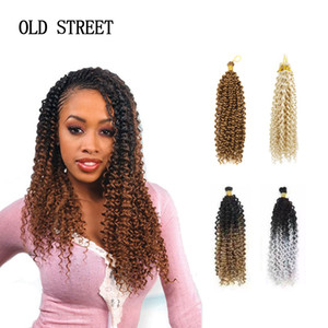 Wholesale Water Wave Synthetic Braiding Hair Extensions Curly Crochet Latch Hook Braiding Afro Kinky Hair Styling Tools SH190727