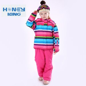 Wholesale Children Waterproof Windproof Warm Skiing Jackets Thermal Kids Ski Suit Girls Winter Camping Hiking Clothes Sets Size cm