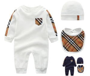 Wholesale 2018 Fashion New Fashion Newborn Toddler Infant Baby Boys Romper Long Sleeve Jumpsuit Playsuit Little Boy Outfits