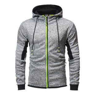 Wholesale 2019 hot style international trade autumn winter personality grey series hoodie hoodie zipper cardigan coat
