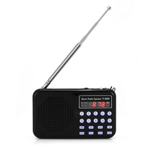 Wholesale Portable Mini Stereo Lcd Display Fm Am Radio Usb Tf Card Music Player Rechargeable Battery With Led Light