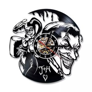 Diy Gift for Clock Joker En Harley Quinn Vinyl Wall Clock Decor Modern Decorative Unique Gift To Your Family for Any Occasion