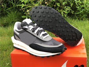 Wholesale 2019 Release Authentic Sacai x LDWaffle Black Anthracite Gunsmoke Pine Green nike Wolf Grey White LD Waffle BV0073 Men Running Shoes
