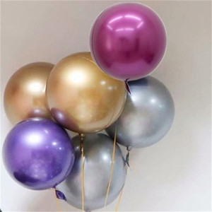 Wholesale metallic balloons resale online - Birthday Party Decoration Balloon Inches Aluminum Film Big Circle Metallic Color No Wrinkle Wedding Room Jigglypuff Balloons zmE1