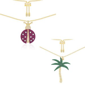Wholesale LIDU Silver High Quality A Fashion Elegant Coconut Tree PM Necklace Gifts To Friends Free Mail Manufacturers