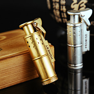 Wholesale vintage lighters resale online - HONEST Retro Kerosene Lighter Refillable Grinding Wheel Vintage Copper Lighters Gift For Men