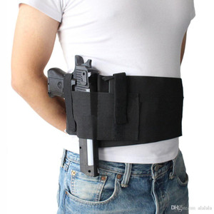 Wholesale waist belts for sale - Group buy Tactical Adjustable Belly Band Waist Pistol Gun Holster Concealed Carry Pistol Gun Pouch Elastic Waist Pistol Holster with Mag Pouches Bag