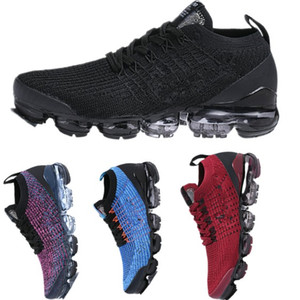 2018 New Running shoe for man woman mesh Cushion triple black golden men shoes Sports Chaussures Sneakers trainers 36-45