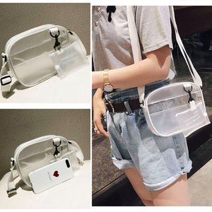 Wholesale Women Zipper Bags Summer In Bag designer wallet Newest Jelly shoulder bag White Transparent Messenger Handbags DHL JY265