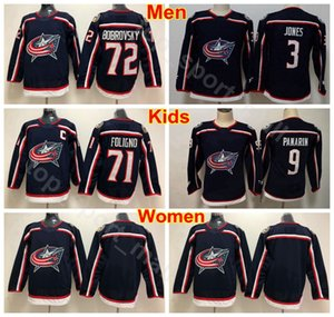 Wholesale Men Women Youth Columbus Blue Jackets Jerseys Hockey 9 Artemi Panarin 71 Nick Foligno 72 Sergei Bobrovsky 3 Seth Jones Woman Kids Man