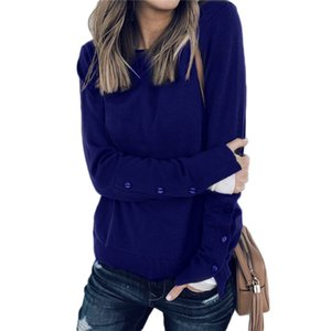 Wholesale New Spring Round Neck Long Sleeve Irregular Split Joint T shirt Women Fashion Tide Bat sleeve Plus size Top T shirts XL A1092