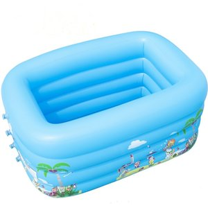 Wholesale Children Bathing Tub Baby Home Use Paddling Inflatable Square Pool baby Swimming Pool Water Play Inflatable