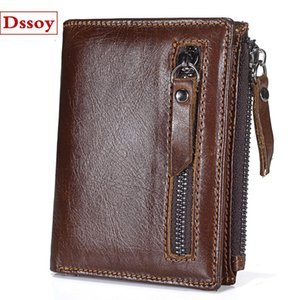 Wholesale Designer Luxury Wallet Credit Card Holder Coin Purse Pouch Vintage Genuine Leather Dssoy Brand Zippy Wallets Key Porte Monnaie For Mens