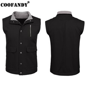 Wholesale Fleece etc Men Collar Sleeveless Snap Outdoor Grey Casual Lined Stand Black Patchwork Single Mountain Vest Sport Breasted Travel