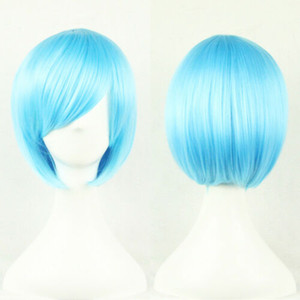 Size: adjustable Select color and style 1pc Synthetic Women Short Straight Cosplay Wigs Cosplay Party Anime Wig USA