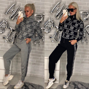 Women's 2 Piece Printed Autunm Winter Tracksuit Set Full Zip-up Sweatshirts & Long Pants Set,Girl's Long Sleeve Jumpsuits Rompers