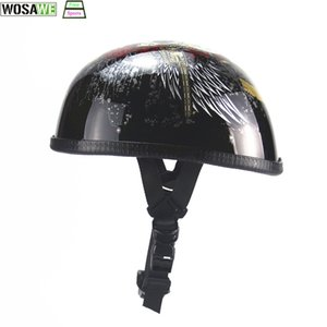 Wholesale Half Face Vintage MTB Bicycle Helmet Retro German Scooter moto Helmet Head Protection Gear Chopper EPS lining DOT approved