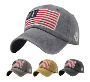 Wholesale army camo hat resale online - New Donald Trump Cap Camouflage USA Flag Peaked Caps Keep America Great Snapback Hat Embroidery Star Letter Camo Army Baseball Cap