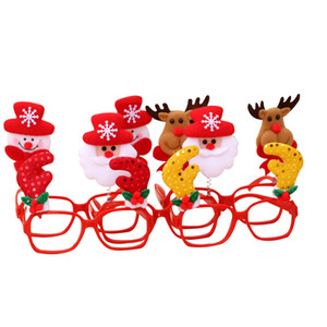 Wholesale Cartoon Kids Adult Eyeglass Frames Plastic Christmas Series Theme Styles Decorative Eyewear Party Glasses Fit Xmas Ornaments Gift jh E1