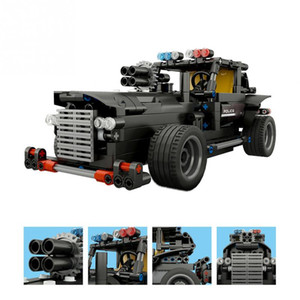 Wholesale Electric Kit RC Remote Control Car Model Special Police Command Vehicle Assembly Blocks Toy