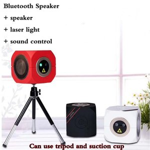 2019 new Mini Bluetooth Speaker Laser Light Voice-activated ktv laser stage light Outdoor laser light family get together Satchel can be loa