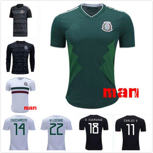 Wholesale 2019 Mexico Gold Cup Soccer Jersey Black Camisetas CHICHARITO LOZANO MARQUEZ Football Shirt Top National Team Uniform Kit