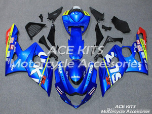 ACE KITS Motorcycle fairing For SUZUKI GSX-R1000 K5 2005 2006 Injection or Compression Bodywork Blue NO.V158