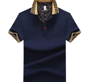 Wholesale Summer Designer Mens Polos Fashion Men Top Turn Down Collar Casual Business Shirts Tshirts