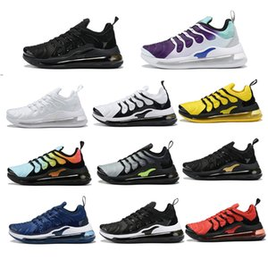 Wholesale 2019 TN Plus Men Running Shoes Triple Black White Sunset Photo Blue Wolf Grey USA Designer Shoes Sport Sneakers Trainers