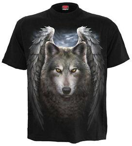 Wholesale Spiral DIRECT LYCOS WINGS T Shirt Tattoo Wild Wolf Biker Gothic SWEET