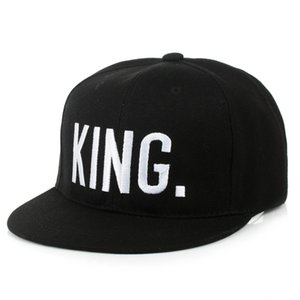 Wholesale Hot Sale KING QUEEN Embroidery Snapback Hat Acrylic Men Women Couple Baseball Cap Gifts Fashion Hip hop Caps