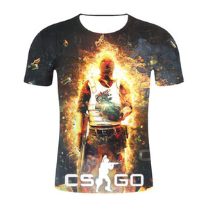 Wholesale CS GO Gamer T Shirt Top Quality Brand Clothing Funny D T Shirt Tee Hot Counter Strike Global Offensive CSGO Men Tshirt
