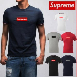 Fashion mens brands suprême tshirt classic box logo designers t shirt high quality men women t-shirt casual wild luxurys shirt free shipping