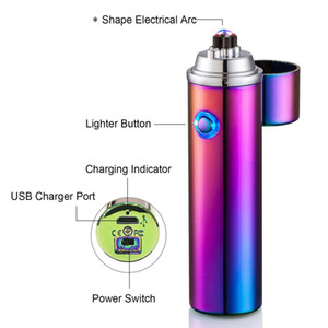 Plasma arc Lighter tripple arc USB Rechargeable windproof cigarette Lighter hiking cigar lighter Reusable Outdoor for BBQ Camping Candle