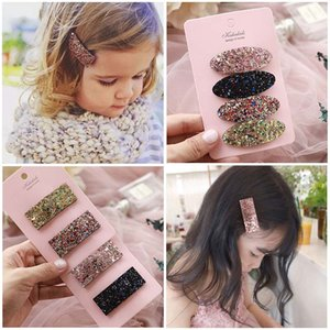 New Girl Hair Clips Fashion Korean glisten baby barrettes sequin Childrens Hairclips baby girl hair accessories Designer kids hairpin A1864