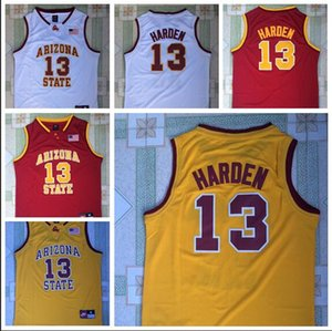 NCAA 13 Harden College Jersey In New Red, Yellow And White Fabric