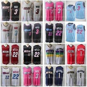 NCAA Men Dwayne 3 Wade Jersey Jimmy 22 Butler stitched jerseys Zion 1 Williamson basketball jersey