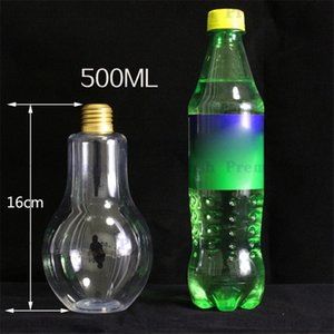 Wholesale Lighting lamps Glass Bulb Cup Beverage Tea Water Drink Bottle With Lid Terrarium For Home Coffee Shop Decor Idea Gift