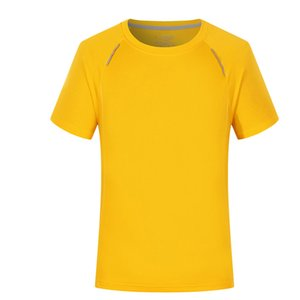 Wholesale New silver ion quick drying short sleeved men and women outdoor running reflective shirt