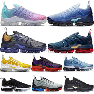 TN Plus Running Shoes For Men Women Royal Smokey Mauve String Colorways Metallic Triple White Black Bred Trainers Sports Sneakers Size 36-46