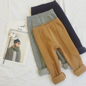 2018 New Winter Item Girl Warm Fleece Pant Casual Trousers Three Colors on Sale