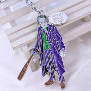 palhaço chaveiro venda por atacado-Pennywise Character Ele Joker Clown do filme Stephen King Scary Movie Ghoset face Vinyl Keychain T105