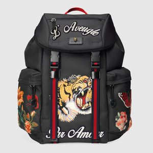 Wholesale fashion backpack designer backpack high quality high tech embroidery canvas bag travel bag latest handbag free shopping