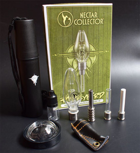 Wholesale High Quality Nectar Collector Honeybird with Titanium Tip Quartz Nail logo Inverted Nail Concentrate Honey Bird Straw Glass water Pipe
