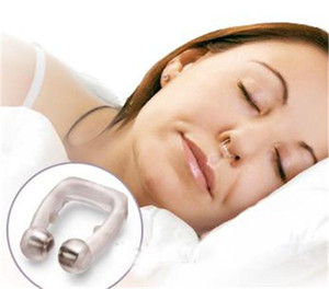 Wholesale Anti Snore Nose Clip Snoring Cessation Silicone Magnetic Sleeping Aid Apnea Guard Night Device with Case
