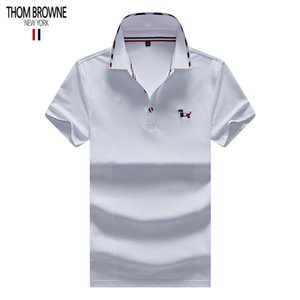 Wholesale THOM polo BROWNE designer shirts mens polos brand polo American famous designer shirts classic embroidery polos quality tee Counter