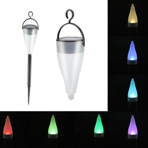 Wholesale Umlight1688 Waterproof Solar Powered Yard Lamp Garden Stake Lights RGB LED Decor Lighting Path Pack box